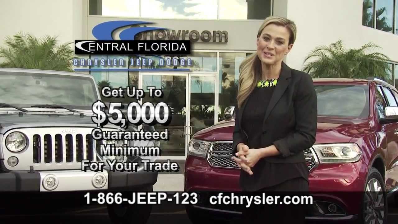 get up to 5 000 minimum trade guarantee at central florida chrysler jeep dodge youtube. Black Bedroom Furniture Sets. Home Design Ideas