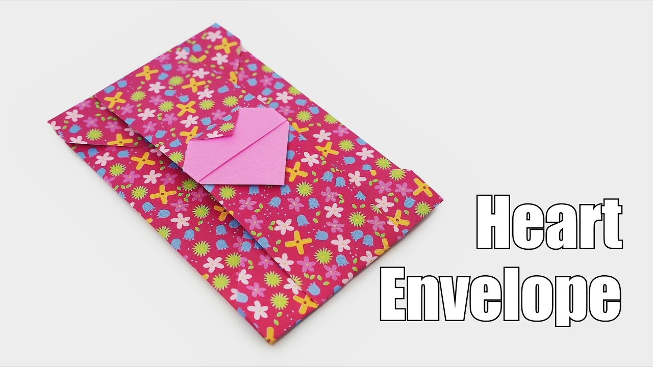 Cute Origami Heart Envelope