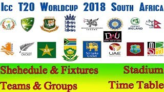 ICC World T20 2018 Schedule, Time Table, Venue, Host Country, Fixtures, News
