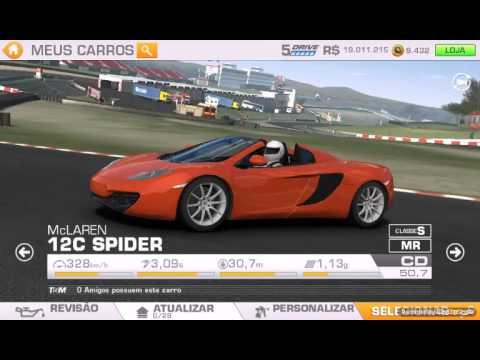 tunning 100 mclaren 12c spider real racing 3 youtube. Black Bedroom Furniture Sets. Home Design Ideas