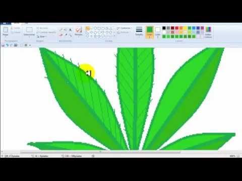 Hoja de marihuana en Paint  YouTube