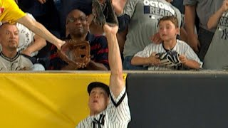CLE@NYY Gm3: Judge leaps to rob a homer from Lindor