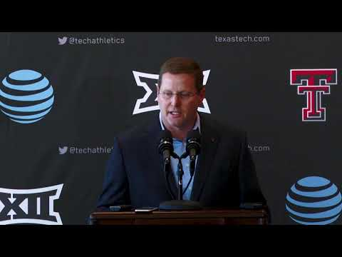 Texas Tech Football: Kirby Hocutt Press Conference | Nov. 25, 2018