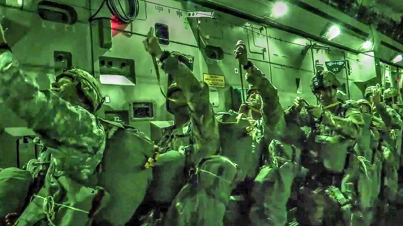 Free Fall Wallpaper Images Airborne Operations Night Jump 82nd Division Youtube