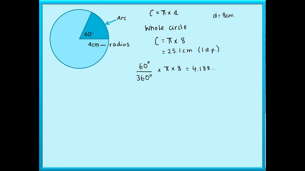 Maths tutorials arc length and perimeter of a sector youtube ccuart Gallery