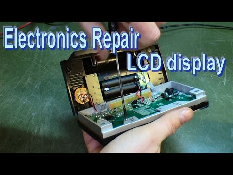 Repair LCD display by cleaning zebra stripes - 148
