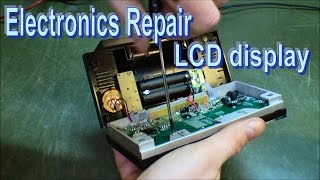 Repair LCD display by cleaning zebra stripes - 148