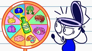 Nate Picks A Random Brain | Animated Cartoons Characters | Animated Short Films
