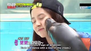 Running man Eng Song ji hyo in zoo indonesia
