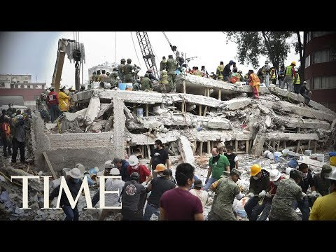 Mexico Earthquake Rescue Efforts: Rescuers Try To Save A Gir