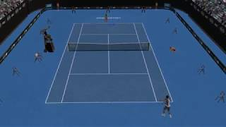 Full Ace Tennis Simulator - Nick Kyrgios vs Alexander Zverev - First Online Game - PC Gameplay