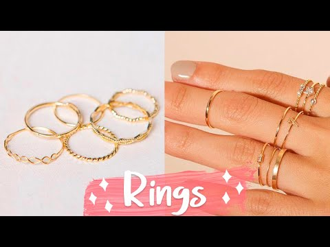12 DIY Rings EASY & Adjustable!! How To Make a Ring | Create Your Own Accessories - YouTube