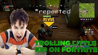 Trolling a little kid on Fornite - Threatens to call Microsoft (EXTREME RAGE)