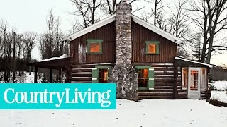 A Cozy Christmas Cabin Nestled in the Woods of Wisconsin | Country Living