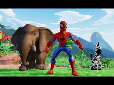 Человек Паук Тачки Мультик Игра для детей про Машинки