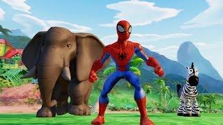 Мультик Игра для детей про Машинки и Человек Паук