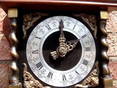 Old Figural Large Dutch German Atlas Zaandam Wall Clock 2