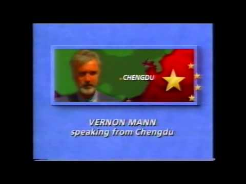 Vernon Mann ITN News - Post Tianamen Massacre in Chengdu, China. Mann Arrested by Chinese