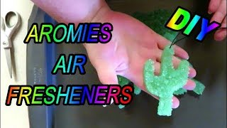HOW TO MAKE AROMIE AIR FRESHENERS WITH POWDER PIGMENTS