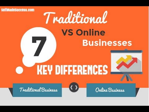 Online vs Traditional Brick-And-Mortar Businesses Comparison
