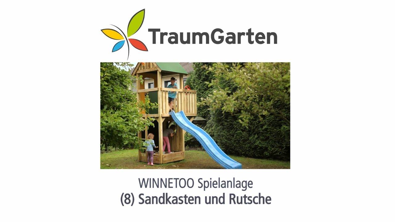 Winnetoo Spielturm Montage 8 Sandkasten Und Rutsche Traumgarten