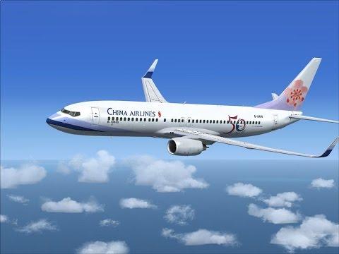 FSX:SE | Boeing 737-800 China Airlines | Hongkong Intern. - Taiwan Taoyuan Intern. Airport