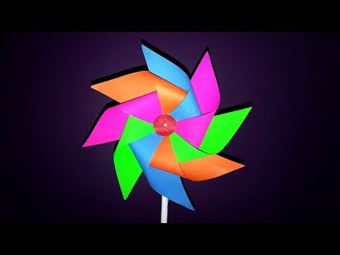 How To Make Paper Windmill || Paper Pinwheel || DIY