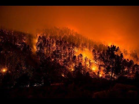 Arde España infernales incendios amenazan zonas pobladas en Galicia