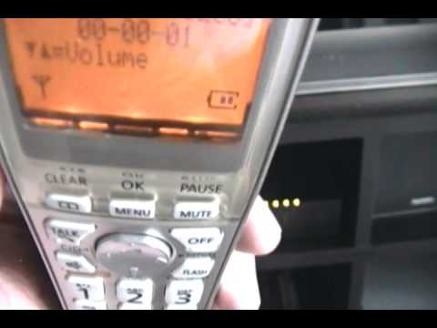 panasonic handset kx tga402 defective speakerphone youtube rh youtube com panasonic phone kx tga402 manual panasonic kx-tga402c user manual