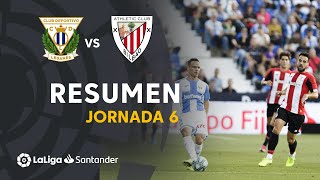 Resumen de CD Leganés vs Athletic Club (1-1)