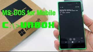 MS-DOS for Mobile - Unboxing and Setup