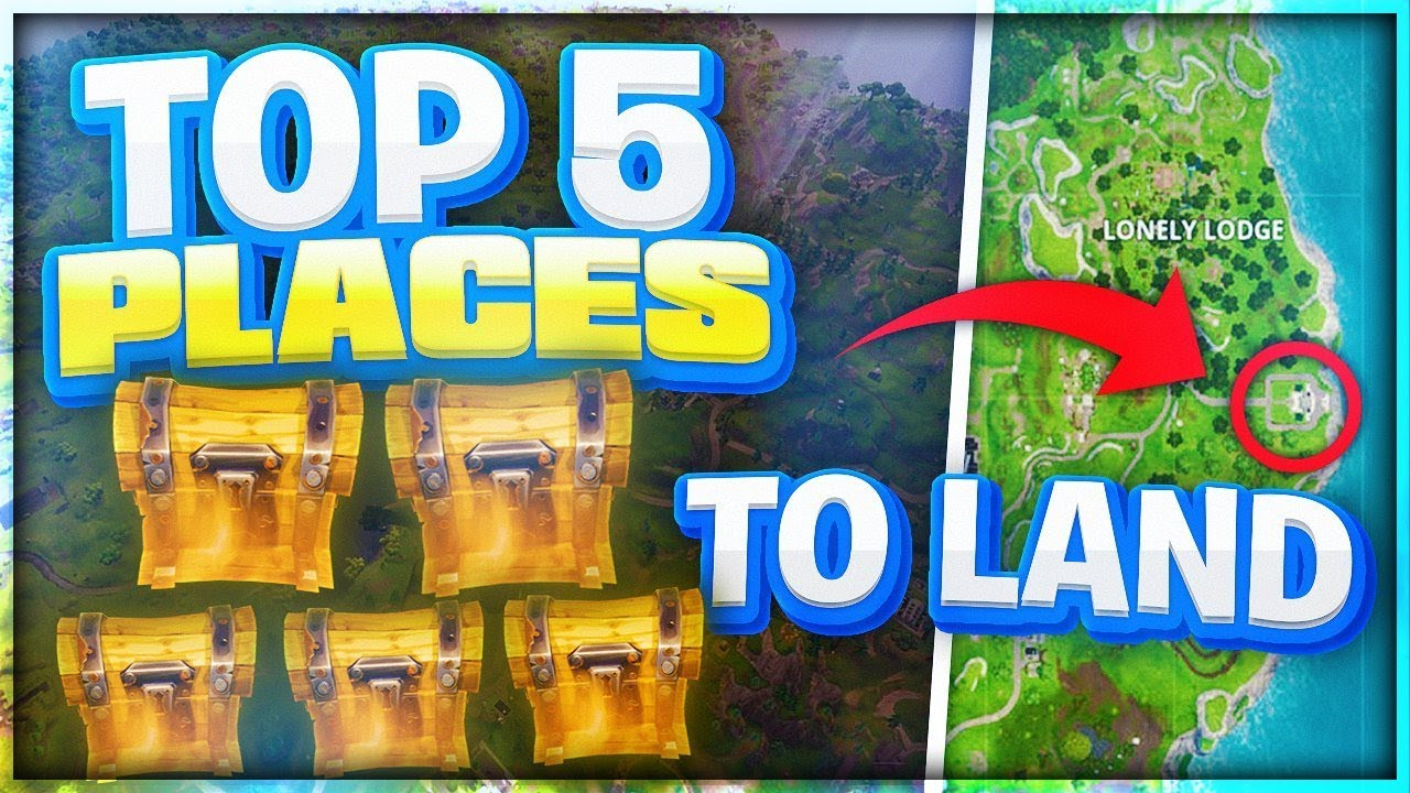 Top 5 Best Places to Land for EASY WINS! Best Fortnite ...