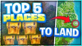 Top 5 Best Places to Land for EASY WINS! Best Fortnite Settings and Sensitivity