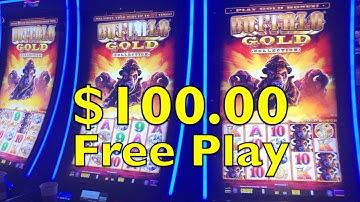 $ 100.00 Free Play on BUFFALO GOLD Slot Machine Las Vegas Casino Pokie Wins 버팔로 슬롯 머신