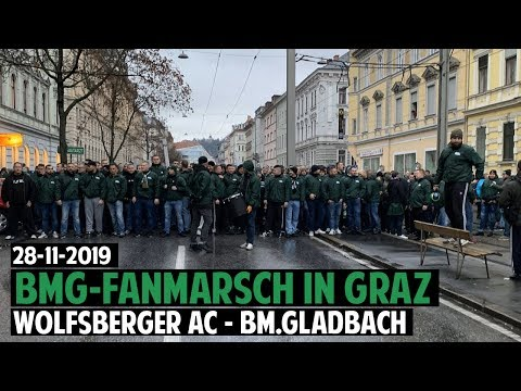 Gldabch-Fans In Graz | Wolfsberger AC - Bor. Mönchengladbach 2019.11.28 | WAC - BMG 0:1