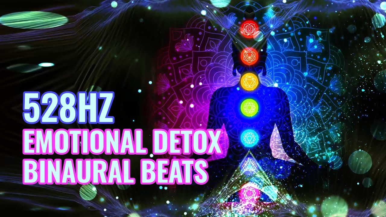 528 Hz Emotional Detox | Release Negativity, Binaural Beats | Repair DNA