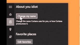 Windows 10 Cortana name change