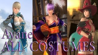 Dead or Alive 5 Last Round: All Ayane Costumes (Victory Poses)