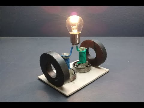 Free energy generator 100% electric new technology - experiment 2019 / at home