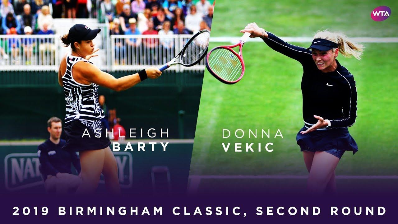 Ashleigh Barty vs. Donna Vekic | 2019 Birmingham Classic First Round | WTA Highlights