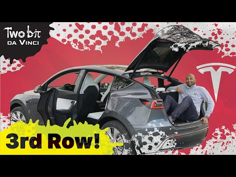 7 Seater Tesla Model Y 3rd Row Hands On!