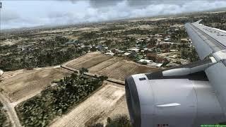 Landing at Taipei Taiwan Airbus A321 - [Runsame Classics] FSX