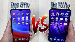 Vivo V11 Pro Vs Oppo F9 Pro Comparision !! Speed Comparision , HINDI