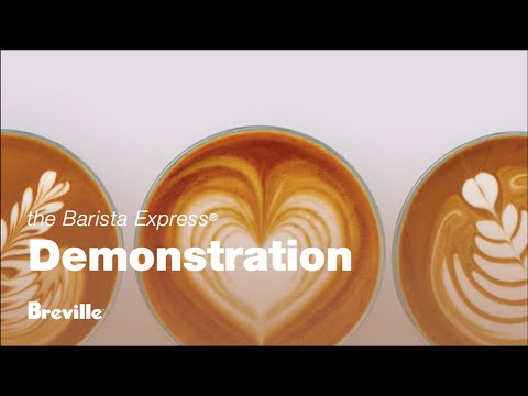 Make a latte with the Barista Express