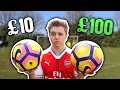 £10 football vs £100 premier league football