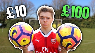 £10 Football Vs. £100 PREMIER LEAGUE Football