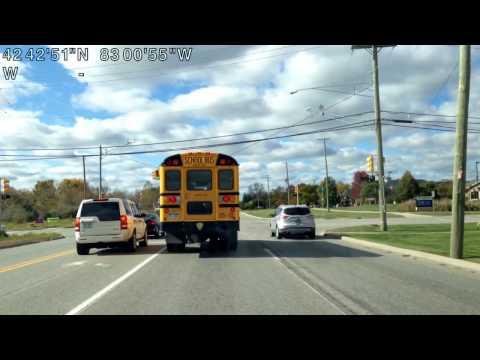 Driving from Macomb Township, Michigan to Washington Township, Michigan