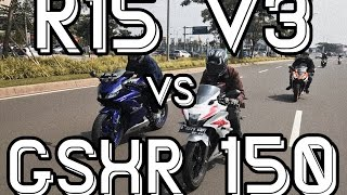 R15 V3 vs GSXR 150 ( Rolling Drag)