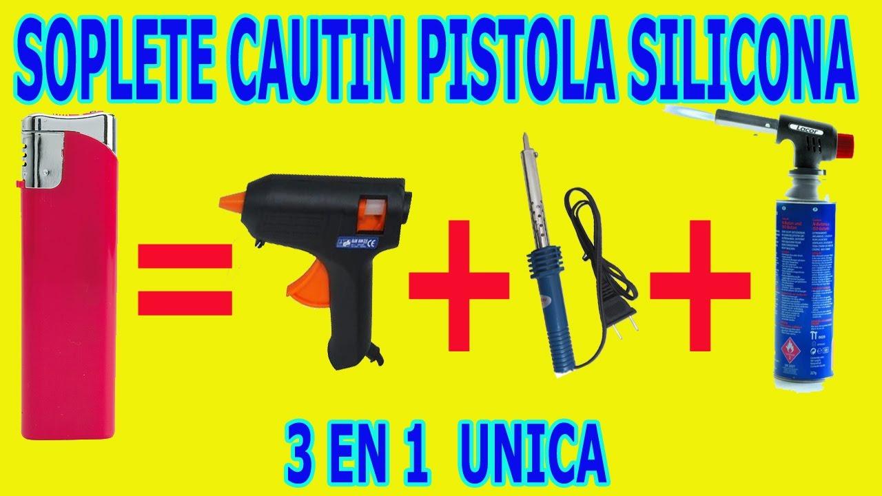 Soplete cautin soldador pistola silicona caliente casero 3 for Pistola de pegamento o de silicona