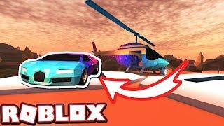 Jailbreak Mythbusters: CUSTOMIZING BUGATTI ON HELICOPTER PAD!!! (Roblox Jailbreak)